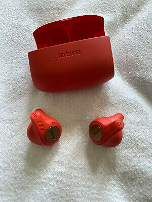 Jabra Elite Active 65t Wireless Earbuds with Charging Case. PRE OWNED. - RED