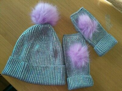 Next Hat And Fingerless Gloves Size 11-13