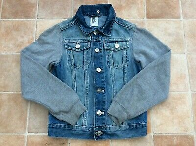 Boys H&M Blue Denim Jacket Coat - Age 8-9 years (134cm)