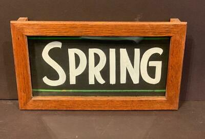 Early 20thc Country Store SPRING sign