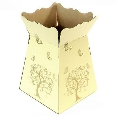 Ivory -Tree Butterfly - Living Vase - Florist Bouquet Box Flower Sweet Boxes