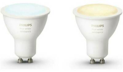 NEW 2x Philips Hue White Ambiance Smart Spotlight LED GU10 5.5w 9290012576