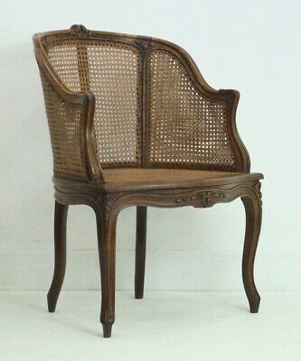 An Early 20th Century French Louis XV Gondola Bergere Armchair