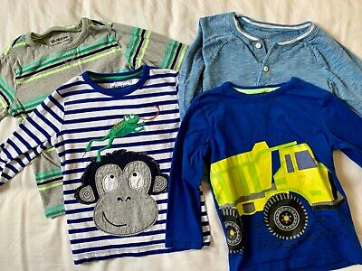 Bundle of boys long sleeve tops age 4-5 Blue Zone and Gap