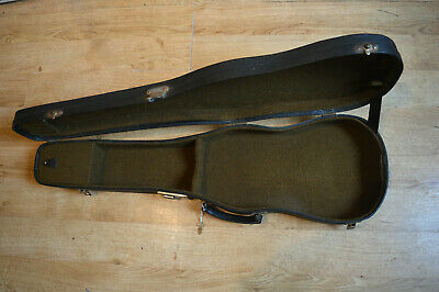 Vintage violin hard case, early/mid 20th.C. with key