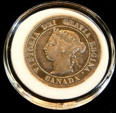 1892 Canada Large Cent Victoria AU Bright in Airtight Cap #CG10