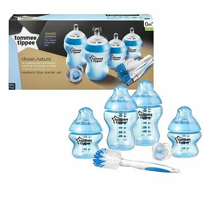 Tommee Tippee Closer To Nature Newborn Starter Set Feeding bottles Boy Blue
