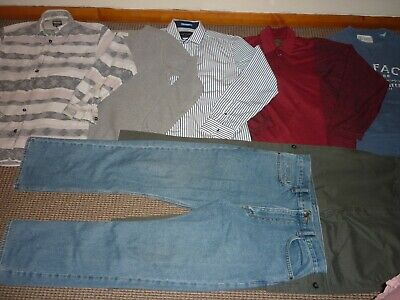 Bundle Boys Clothes age 15-16yrs Jeans Tops Hoodie Shirt  Fat Face  R.Island