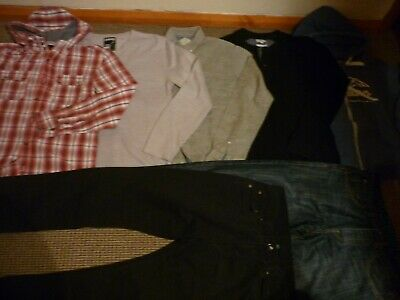 Bundle Boys Clothes age 15-16yrs Jeans Tops Hoodie Shirt Topman Next Duffer Easy