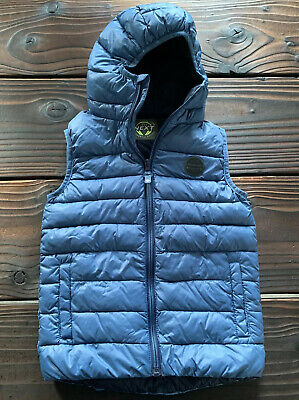 NEXT Boys Hooded Body Warmer Padded Gilet  Blue Age 7 Very Good Condition