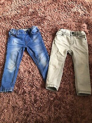 Toddler Boys Grey And Denim Jeans 2-3 Years