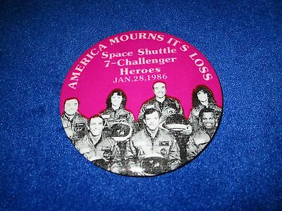 Space Shuttle 7-Challenger Heroes Jan.28.1986 America Mourns It's Loss Pin New