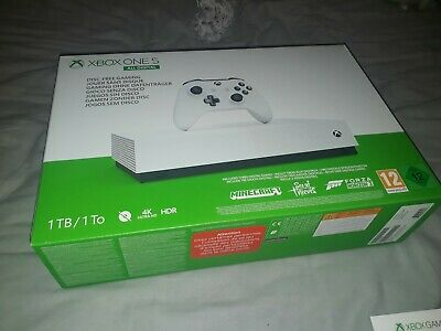 Xbox One S 1 TB All-Digital Edition Console, Controller, two games