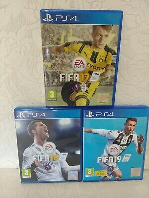 Joblot Of Ps4 Games - Fifa 17, Fifa 18 & Fifa 19