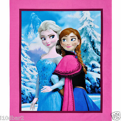 DISNEY FROZEN FABRIC PANEL SISTERS SNOWY SCENIC QUILT TOP CP52337 NEW FREE SHIP