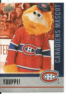 2019-20 Upper Deck Youppi Canadiens Mascot #M9 National Hockey Card Day Mint
