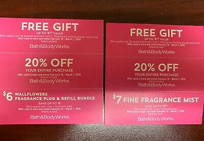 6 Bath and Body Works Coupons- Expires March 1, 2020