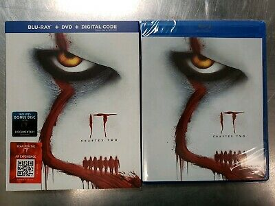 It Chapter Two (Blu Ray + DVD + Digital Code) NEW SEALED w/Slipcover