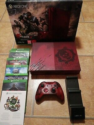 Microsoft Xbox One S Gears of War 4 Limited Edition 2TB Crimson Red Console