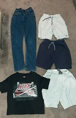 Next Boys 3x Shorts -  Skinny Jeans Nike T Shirt - Age 9 - 10 Yrs