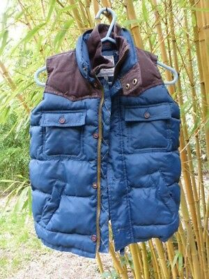 Little Joule Joules Blue Quilted Gilet Bodywarmer Vest 8 Years 128cm VGC