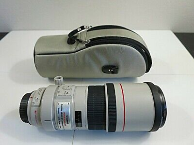 Canon EF 300mm f/4 L IS USM Lens w UV filter & case
