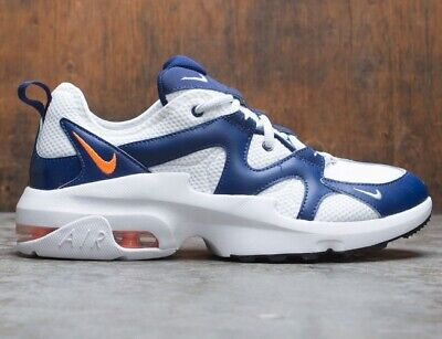 EUR size 44 Nike Air Max Graviton mens white / blue sports gym trainers sneakers