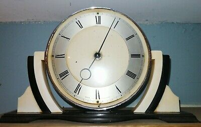 Superb Smiths Art Deco Chrome/Bakelite Mantle Clock.