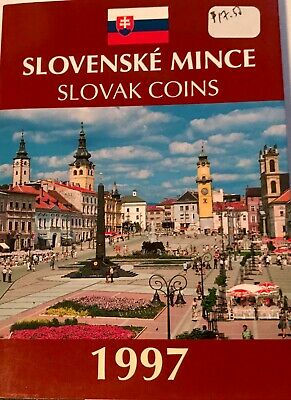 SLOVAKIA - (7) Coin Uncirculated Set + Mint Medal - 1997 - KM MS 5