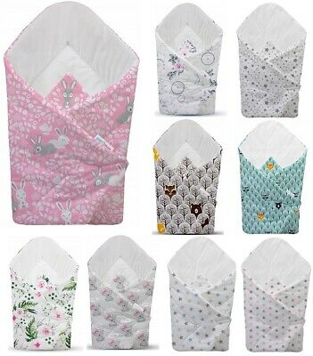 BABY SWADDLE WRAP NEWBORN INFANT BLANKET PURE COTTON SLEEPING BAG 0-3 months