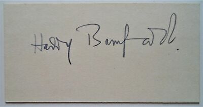 Harry Bamford Bristol Rovers Fc 1945-58 Original Vintage Ink Football Autograph