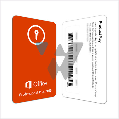 MS Office 2016 Pro Plus 32/64bit License Key  Instant Delivery