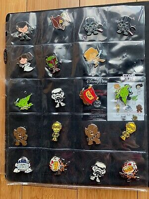 DISNEY STAR WARS 35 PIN LOT/SETS Authentic