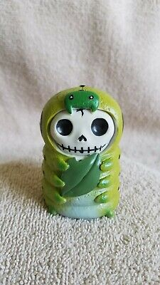 Furrybones Inch the Inchworm Figurine Skull in Costume Collect New Free Shipping