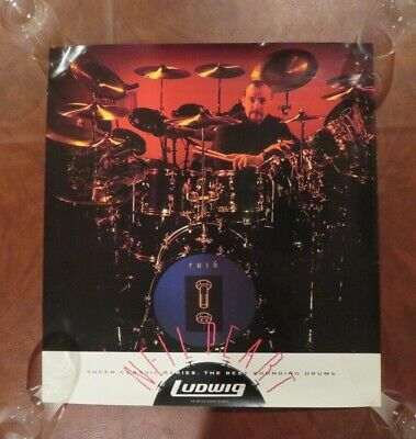 Neil Peart, Rush Dummer, *Original* Vintage Ludwig Poster, Never Displayed/Hung!