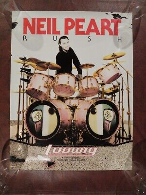 Neil Peart, Rush Dummer, Original Vintage Ludwig Poster, Rare, Excellent!