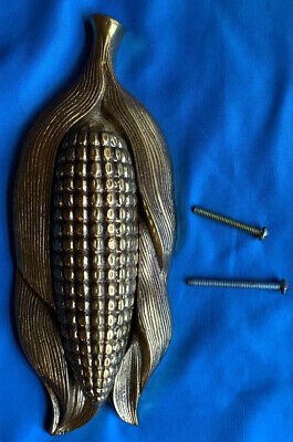 Antique Vintage Style Corn on the Cob Door Knocker Solid Brass