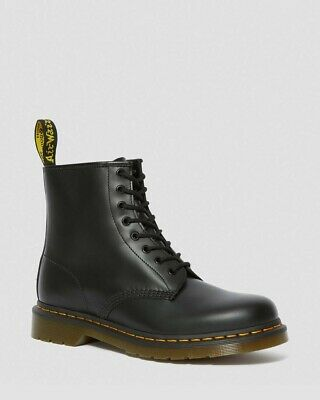 Dr. Martens 1460 Black Smooth Leather Lace Up Ankle Boots M 9/ W 10 100% Auth