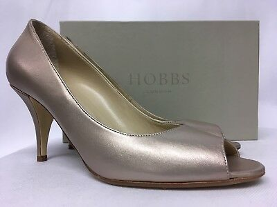 RRP £149 Various Sizes Hobbs Lizzie Court Silver Heels NEW WITH BOX.