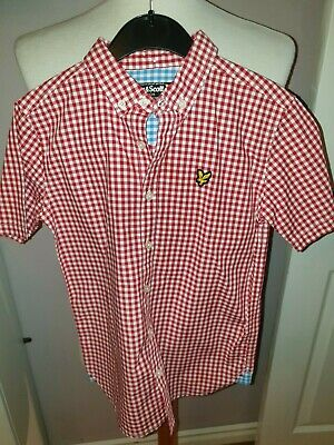 Brand New Boys Designer Lyle & Scott Checked Shirt Uk 8/9 Years Rrp £40.00