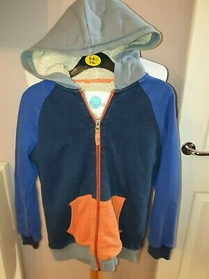 Superb Boys Designer Boden Deep Fleeced Full Zip Hooded Jacket Uk 8/9 Yrs £55
