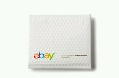 "10 eBay Branded Envelopes 6.5"" x 8.75"" Bubble Padded Airjacket for CDs, DVDs #0"