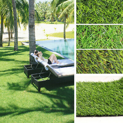 Artificial Grass 25/30/35mm Green Garden Realistic Fake Lawn Astro Turf Golf Sod