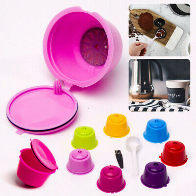 7x Refillable Coffee Capsule Cups For Dolce Gusto Nescafe Reusable Filter Pod