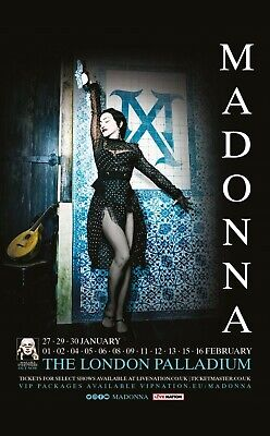 Madonna Madame X Tour Souvenir Fridge Magnet All London Shows 27 Jan To 16 Feb
