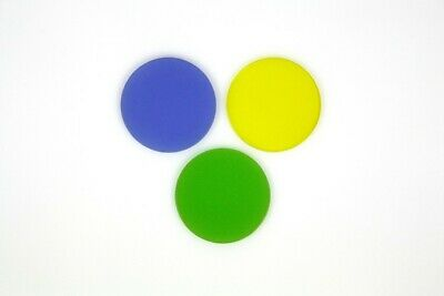 Color Filters for Microscope 1 1/4in - Blue/Yellow/Green