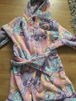 Girls MY LITTLE PONY hooded fleece dressing gown from GEORGE Aged 6-7 years