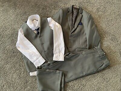 Boys Grey Three piece Suit Size 10 Years