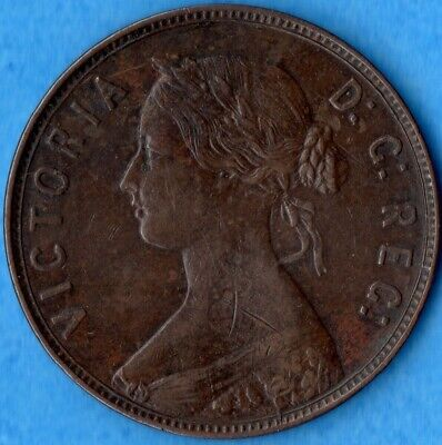 Canada Newfoundland 1873 1 Cent One Large Cent Coin - EF (marks)