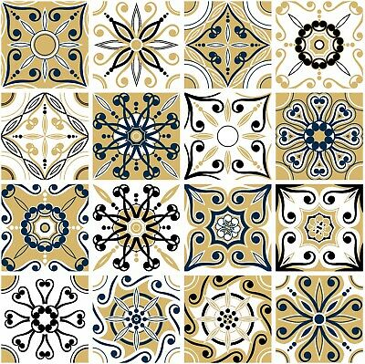 """Mosaic Stickers Transfers for 150mm x 200mm 6/"""" x 8/"""" Inch Kitchen Tiles etc C1"""